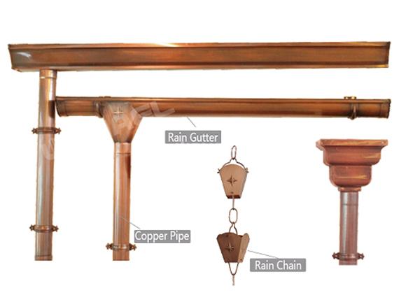 铜天沟 屋檐排水槽WTT-14