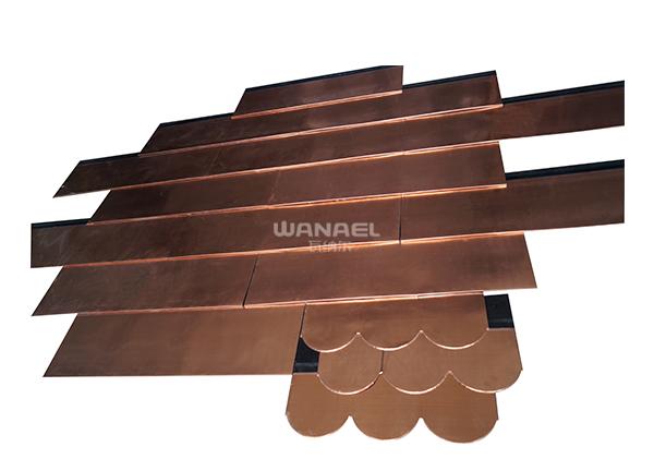 鱼鳞型沥青铜瓦WTW-03